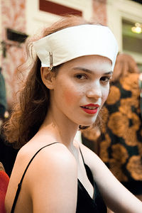 Model backstage at Vivienne Westwood during Paris Fashion Week SS15 - Ger Ger for Interview Magazine