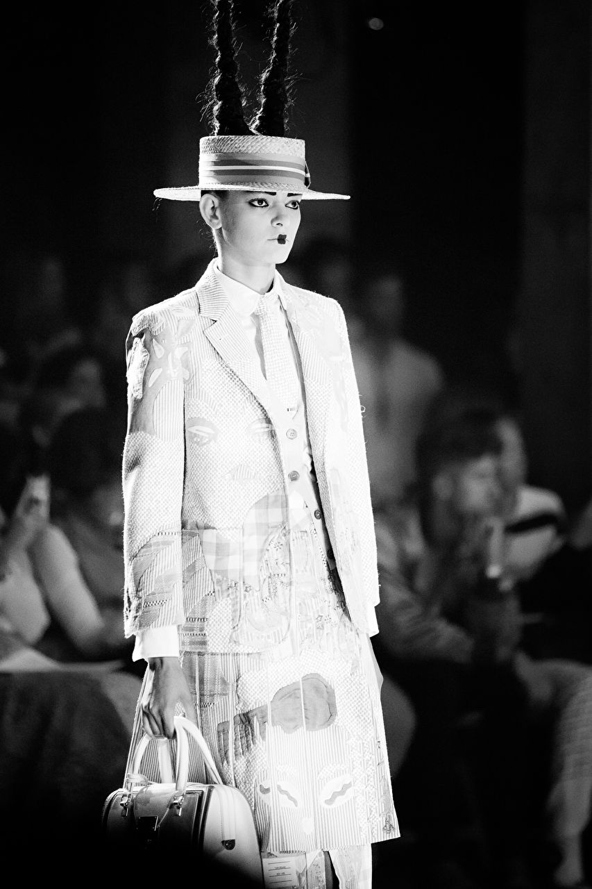 Thom Browne Back to School Runway show as part of the New York Fashion Week Womenswear Spring/Summer 2016 at Skylight Modern on September 14, 2015 in New York City, USA.