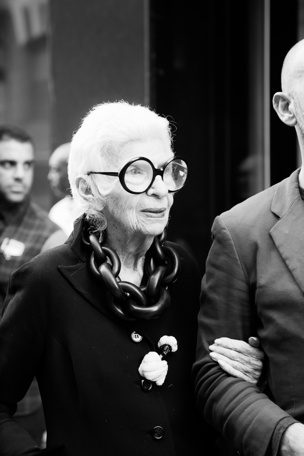 Guest Iris Apfel after the Thom Browne show as part of the New York Fashion Week Womenswear Spring/Summer 2016 at Skylight Modern on September 14, 2015 in New York City, USA.