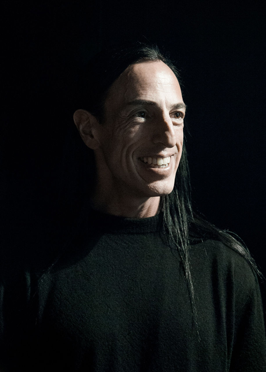 Fashion designer Rick Owens backstage after his show as part of the Paris Fashion Week Womenswear Fall/Winter 2015/16 at Palais de Tokyo on March 5, 2015 in Paris, France.