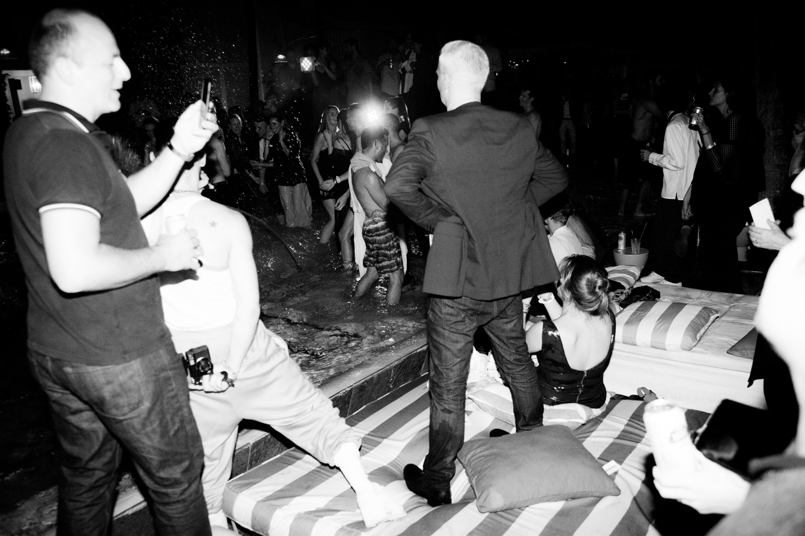 PS1 director Klaus Biesenbach at the MoMA PS1 Pool Party for 'Greater New York' Exhibition with Eckhaus Latta water performance at the Delano Beach Club during Art Basel Miami Beach 2015 on December 4, 2015 in Miami, Florida.