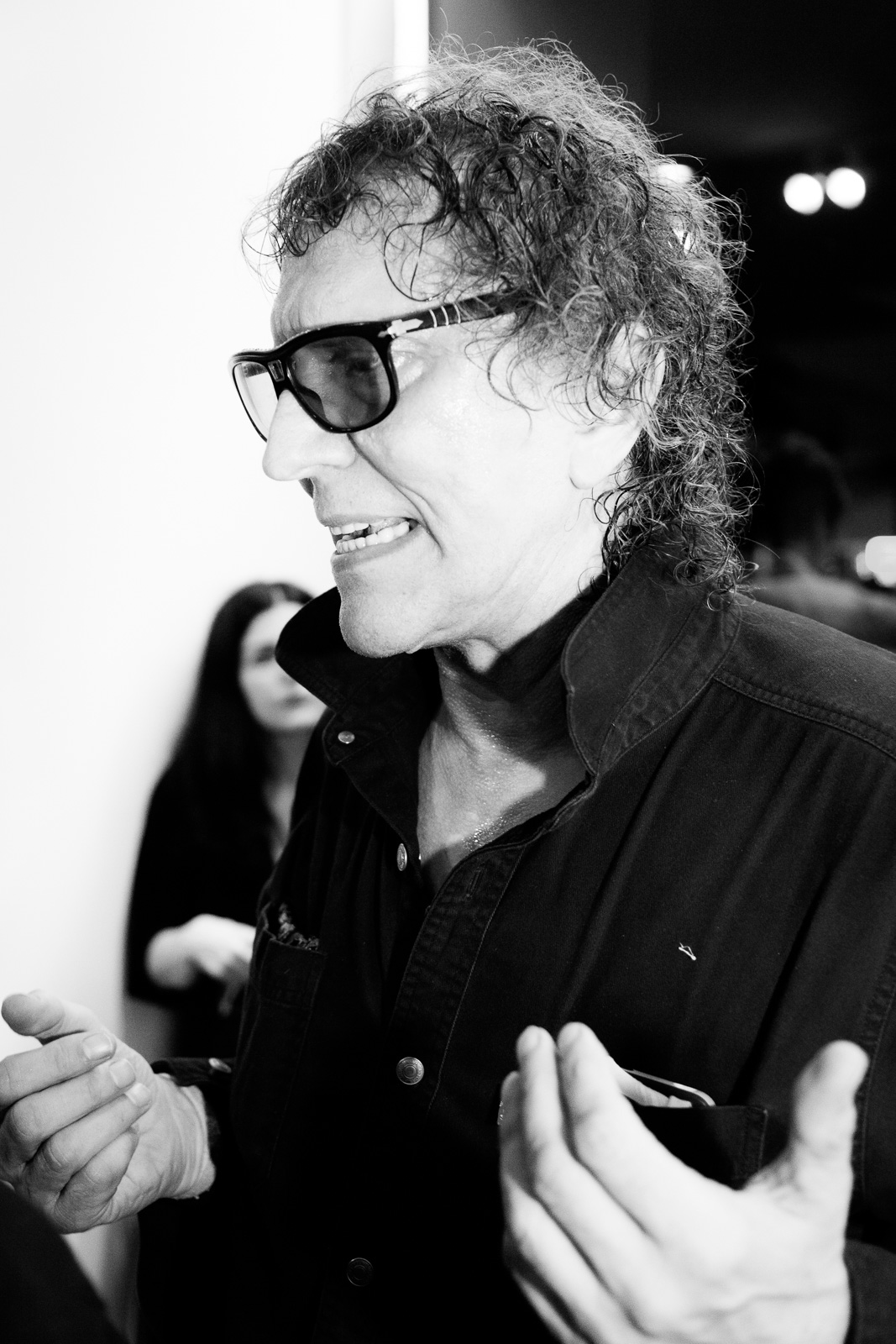 Mick Rock at TASCHEN Gallery opening reception for 'Mick Rock: Shooting For Stardust - The Rise Of David Bowie & Co.' at TASCHEN Gallery on September 9, 2015 in Los Angeles, California.