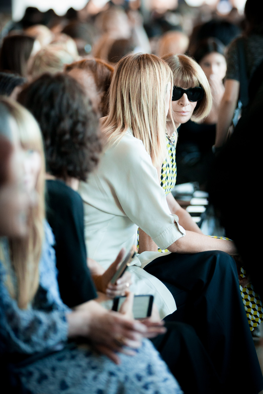 Anna Wintour at the Calvin Klein Spring 2016 Runway Show All Access during New York Fashion Week at Spring Studios on September 17, 2015 in New York City, USA.
