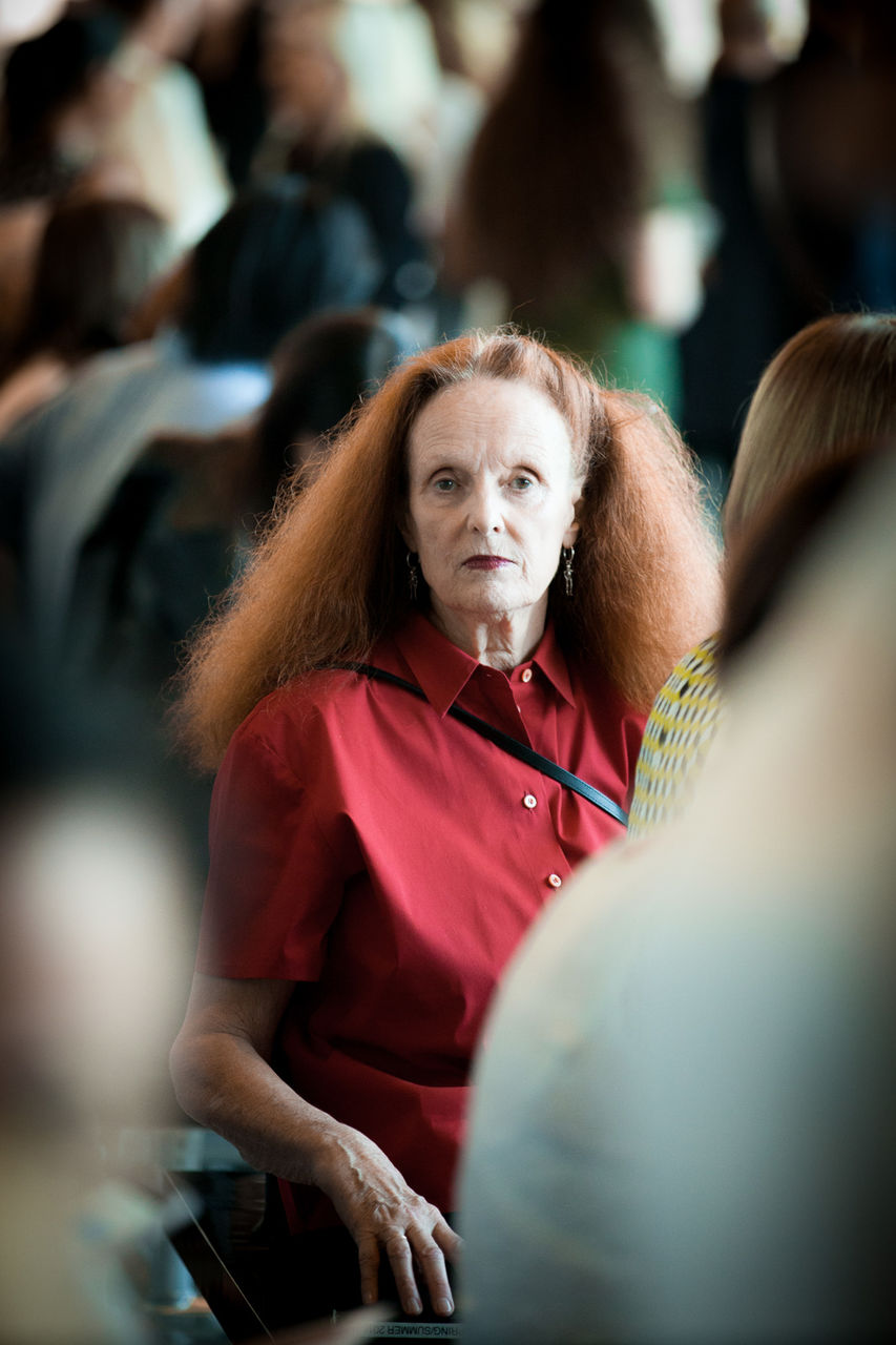 Grace Coddington at the Calvin Klein Spring 2016 Runway Show All Access during New York Fashion Week at Spring Studios on September 17, 2015 in New York City, USA.
