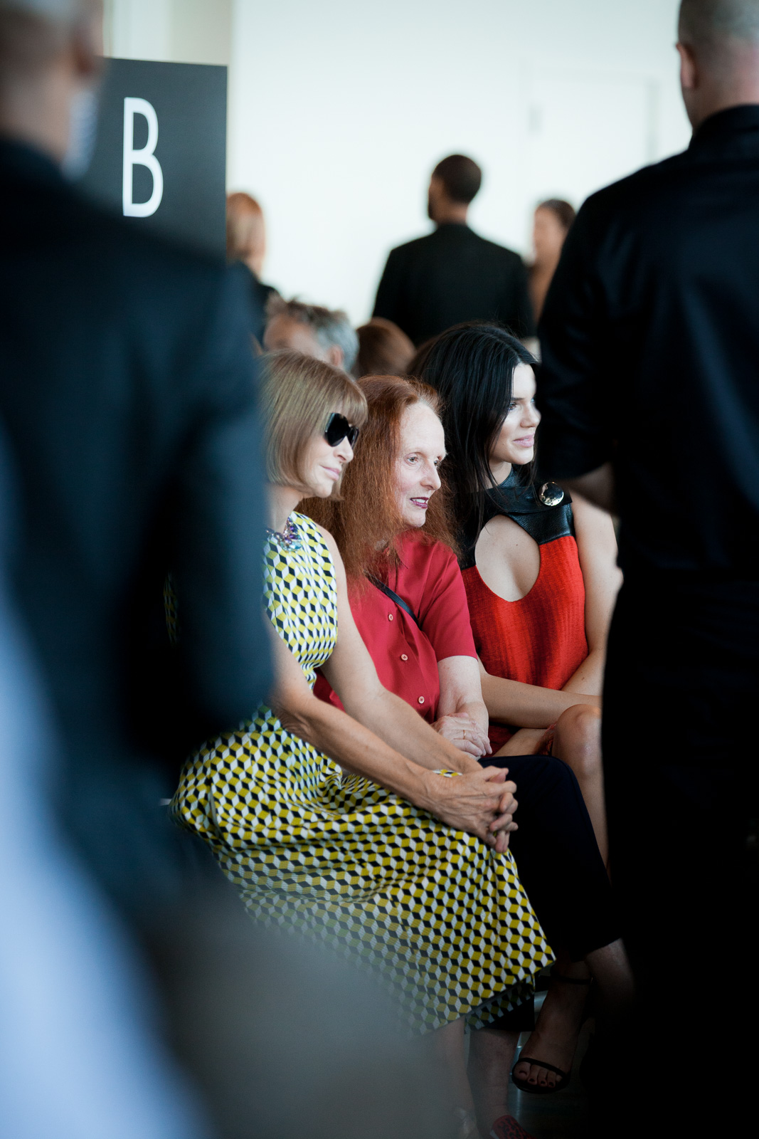Anna Wintour and Grace Coddington at Calvin Klein Spring 2016 Runway Show All Access during New York Fashion Week at Spring Studios on September 17, 2015 in New York City, USA.