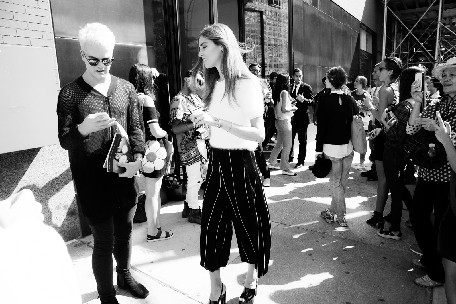 Outside the Calvin Klein Spring 2016 Runway Show during New York Fashion Week at Spring Studios on September 17, 2015 in New York City, USA.