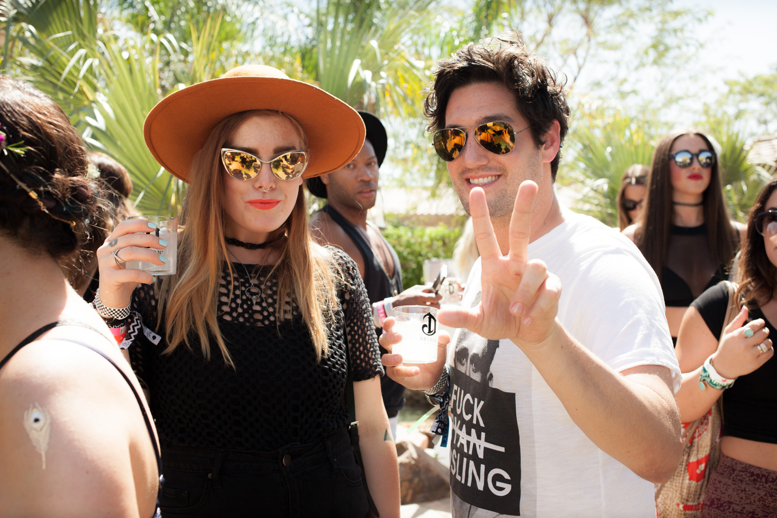 Coachella 2015 Pool Party hosted by Interview Magazine x Desert Compound Pool Party & BBQ - with Wildfox and beGLAMMED - DJ LOL A LANGUSTA, KITTY CASH, YOUNG LORD, Performance by KALI UCHIS on April 11, 2015 in Bermuda Dunes, California.