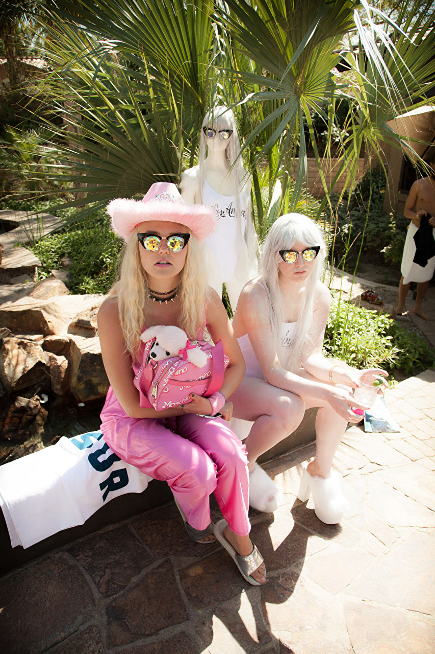 Bonnie Strange at the Coachella 2015 Pool Party hosted by Interview Magazine x Desert Compound Pool Party & BBQ - with Wildfox and beGLAMMED - DJ LOL A LANGUSTA, KITTY CASH, YOUNG LORD, Performance by KALI UCHIS on April 11, 2015 in Bermuda Dunes, Ca