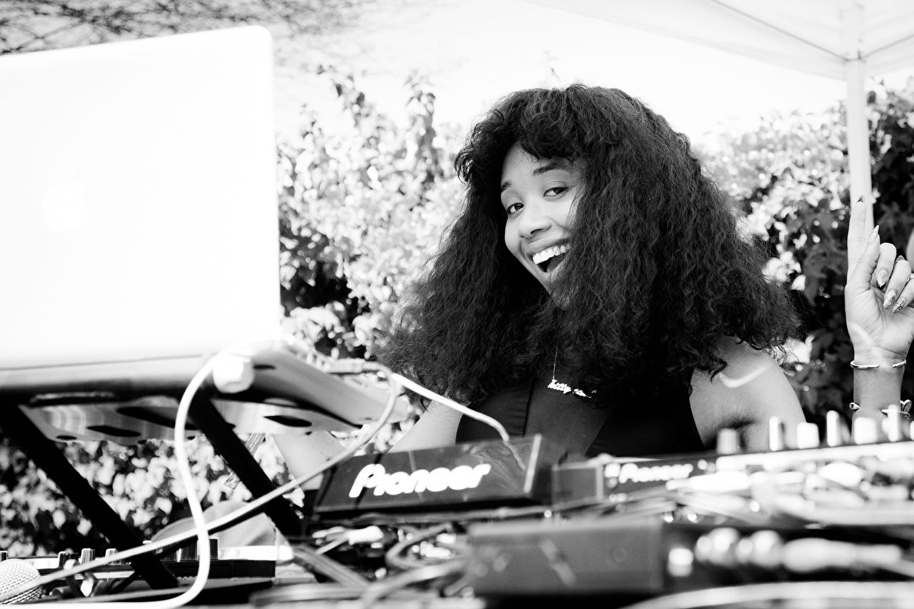 Kitty Cash at the Coachella 2015 Pool Party hosted by Interview Magazine x Desert Compound Pool Party & BBQ - with Wildfox and beGLAMMED - DJ LOL A LANGUSTA, KITTY CASH, YOUNG LORD, Performance by KALI UCHIS on April 11, 2015 in Bermuda Dunes, Califo