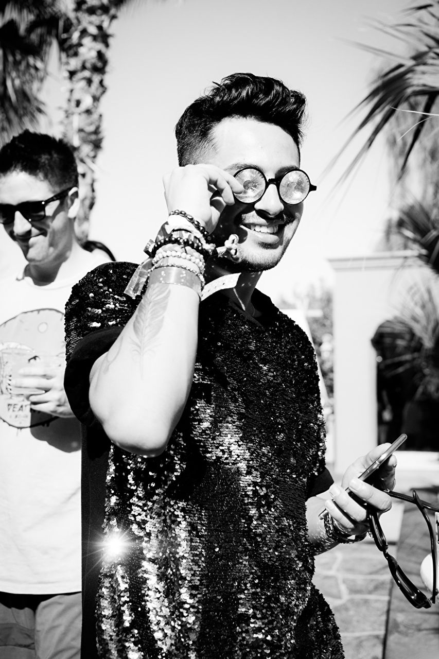 Coachella 2015 Pool Party hosted by Interview Magazine x Desert Compound Pool Party - with IMG Models - KRONKA, DJ SOSUPERSAM, Performance by Haerts on April 12, 2015 in Bermuda Dunes, California