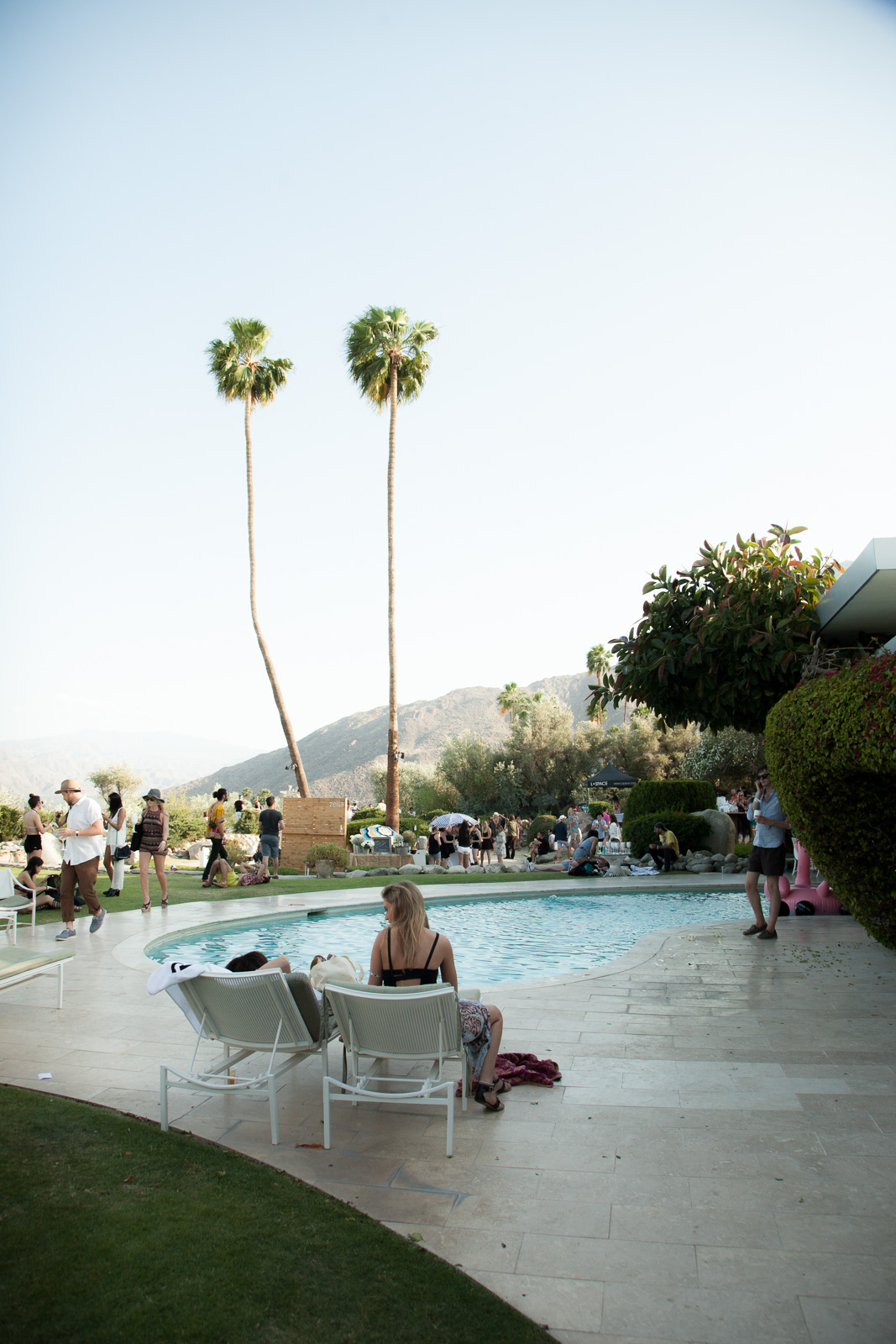 Coachella 2015 The Zoe Report x dolce vita Pool Party hosted by Rachel Zoe on April 11, 2015 at the dFm House in Palm Springs, California