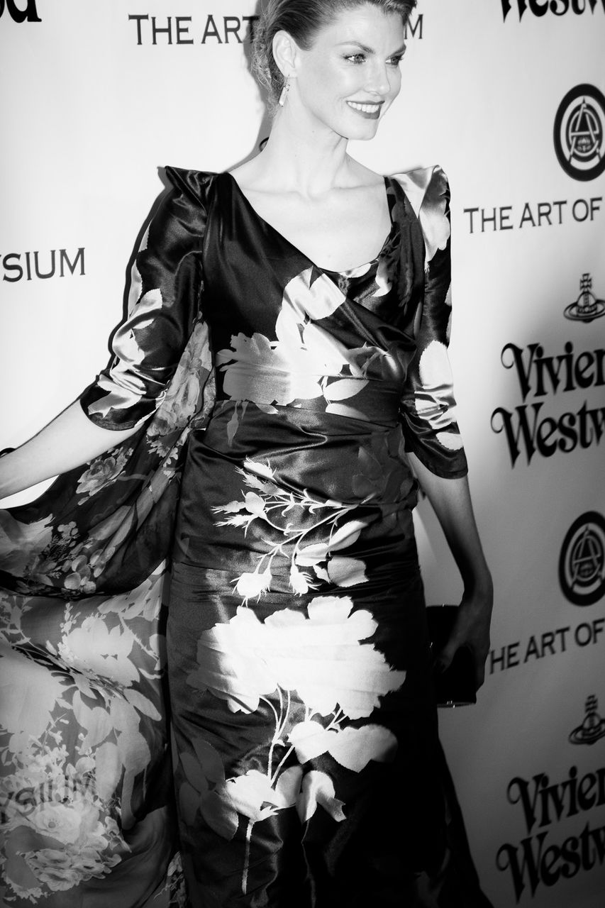 Model Angela Lindvall attends the Art of Elysium 2016 HEAVEN Gala presented by Vivienne Westwood & Andreas Kronthaler at 3LABS on January 9, 2016 in Culver City, California.