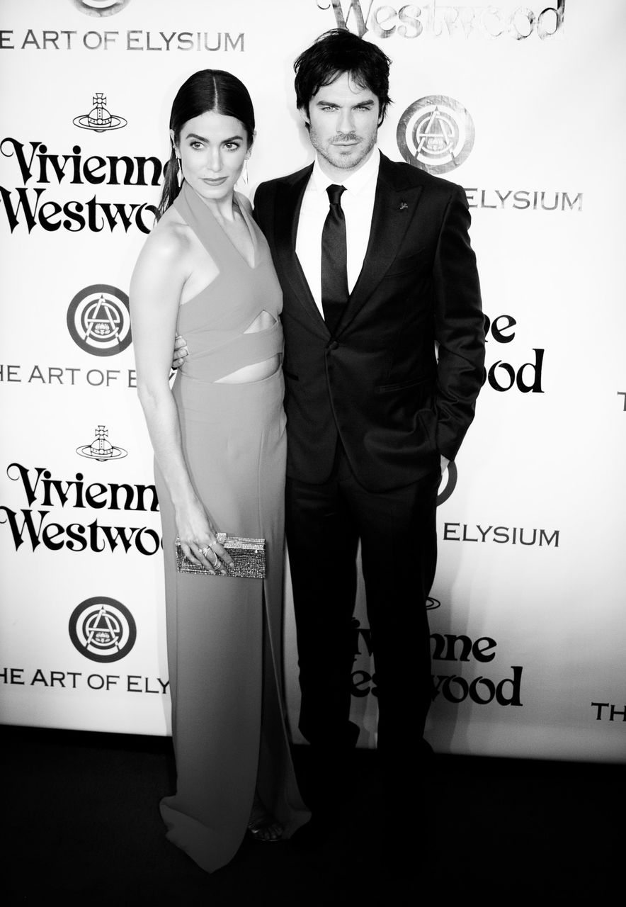 Actress Nikki Reed and actor Ian Somerhalder attend The Art of Elysium 2016 HEAVEN Gala presented by Vivienne Westwood & Andreas Kronthaler at 3LABS on January 9, 2016 in Culver City, California.