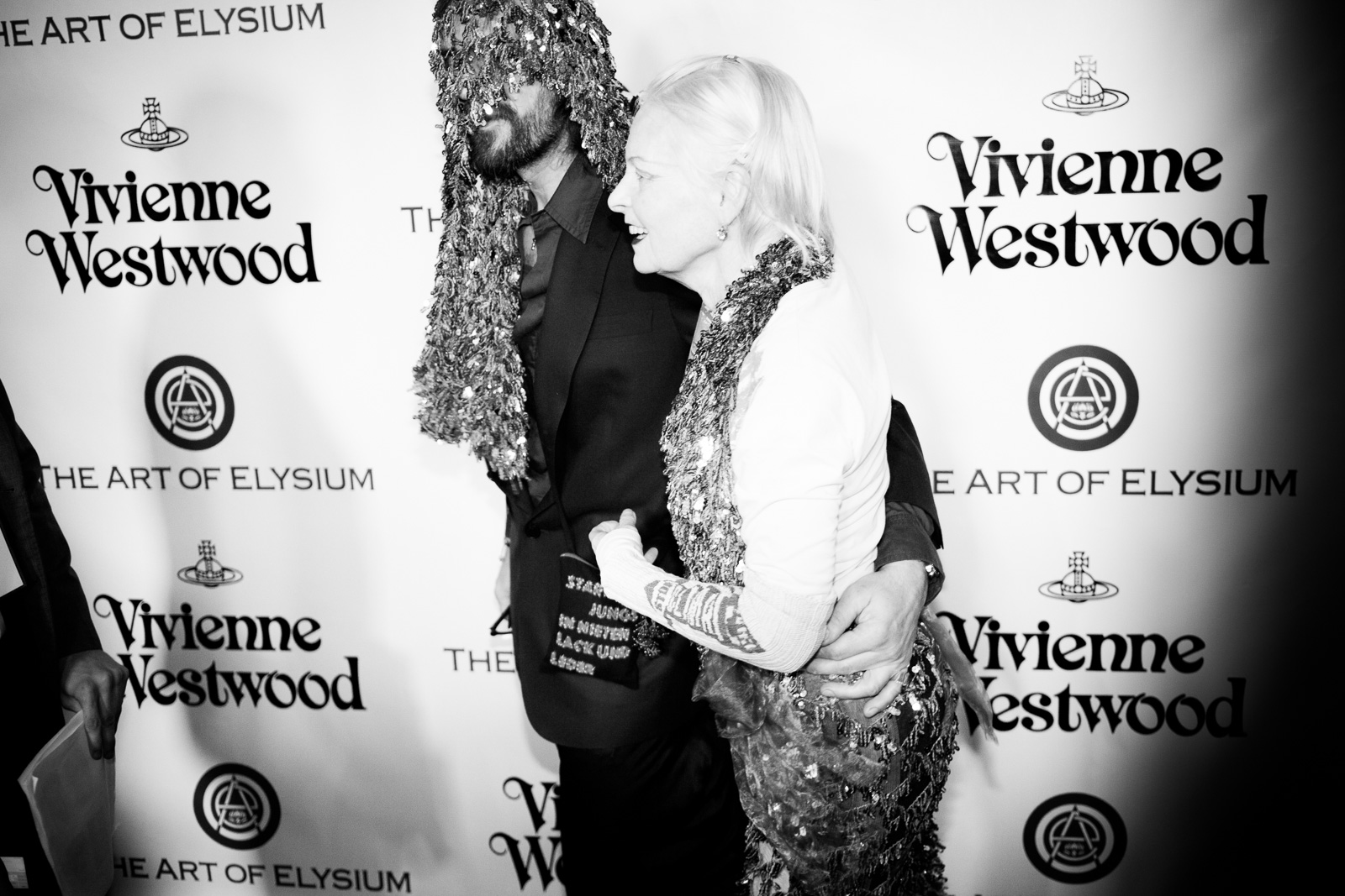 Designer Vivienne Westwood and husband Andreas Kronthaler attend The Art of Elysium 2016 HEAVEN Gala presented by Vivienne Westwood & Andreas Kronthaler at 3LABS on January 9, 2016 in Culver City, California.