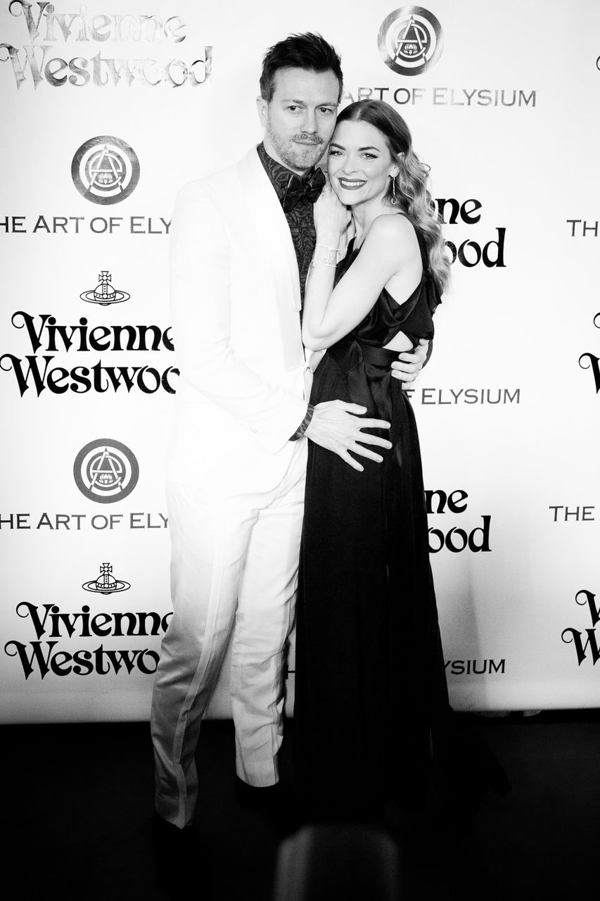 Actress Jaime King and husband Kyle Newman attend The Art of Elysium 2016 HEAVEN Gala presented by Vivienne Westwood & Andreas Kronthaler at 3LABS on January 9, 2016 in Culver City, California.