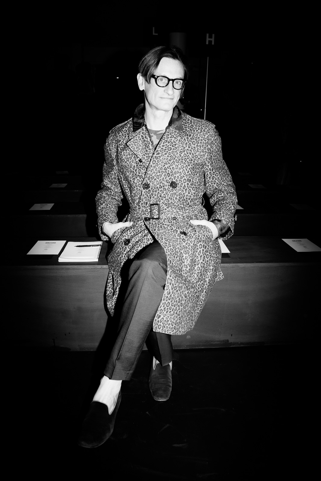 International Vogue Editor at Large Hamish Bowles at Saint Laurent FW16 (Hedi Slimane) at the Palladium on February 10, 2016 in Los Angeles, California.