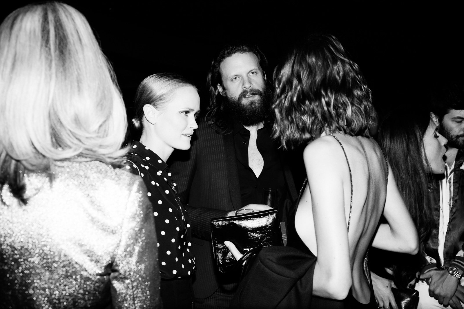 Father John Misty at Saint Laurent FW16 (Hedi Slimane) at the Palladium on February 10, 2016 in Los Angeles, California.