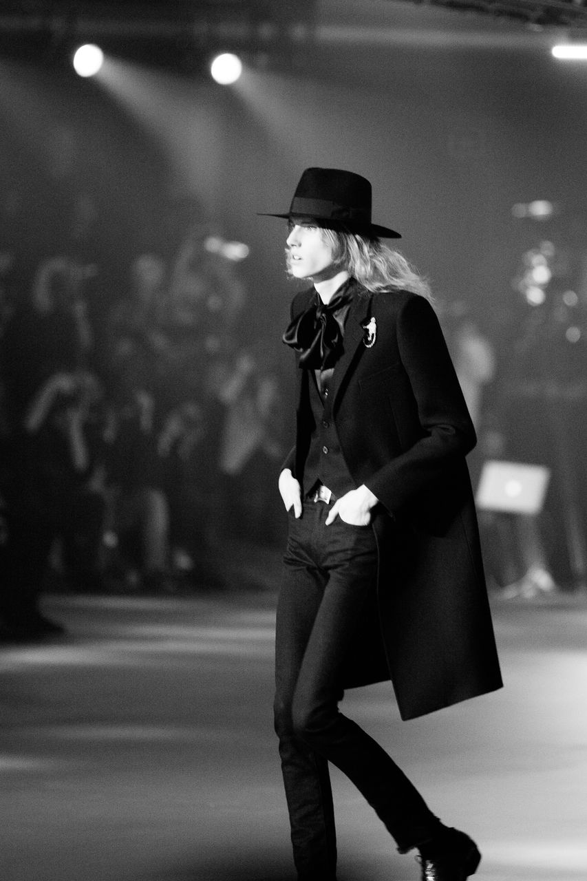 Saint Laurent FW16 (Hedi Slimane) at the Palladium on February 10, 2016 in Los Angeles, California