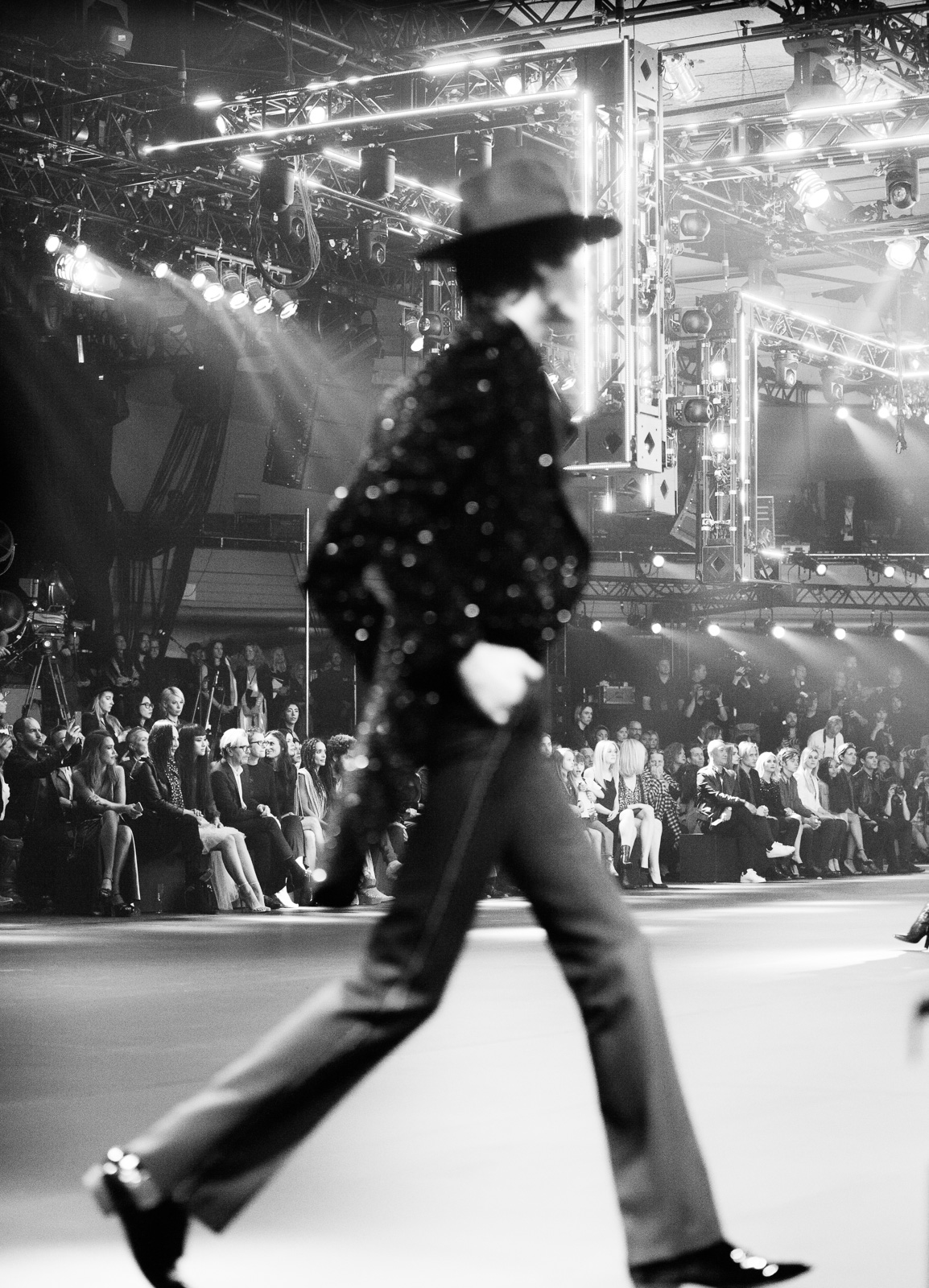 Saint Laurent FW16 (Hedi Slimane) at the Palladium on February 10, 2016 in Los Angeles, California.