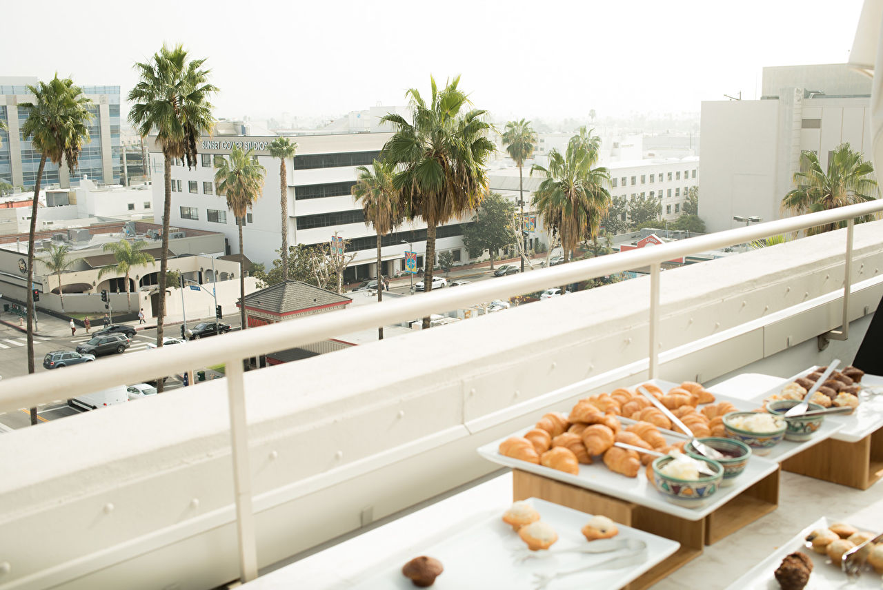 Sunset Gower Studios views from the Paley penthouse rooftop during the NeueHouse Hollywood Launch of NOT JUST A LABEL's Authentic Radicalism at NeueHouse Hollywood on December 13, 2016 in Los Angeles, California.