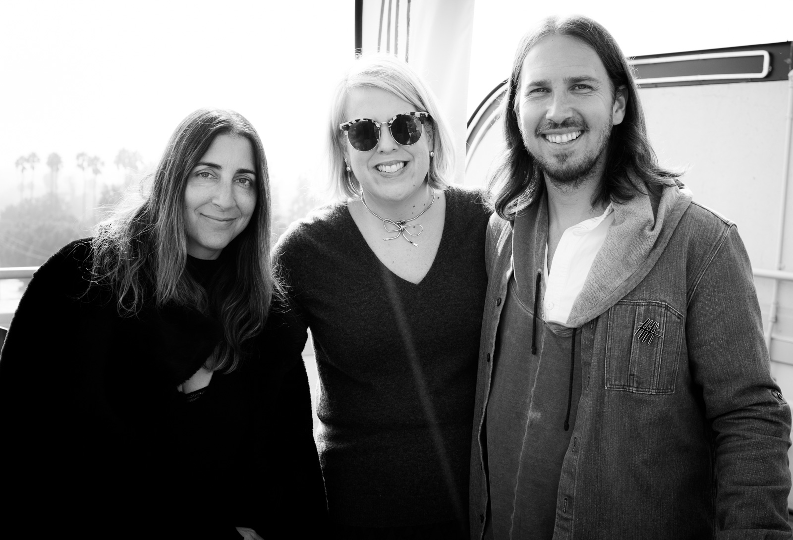 A.L.C. founder Andrea Lieberman, The Hollywood Reporter Fashion Editor Booth Moore and NJAL founder Stefan Siegel at the Launch of NOT JUST A LABEL's Authentic Radicalism at NeueHouse Hollywood on December 13, 2016 in Los Angeles, California.