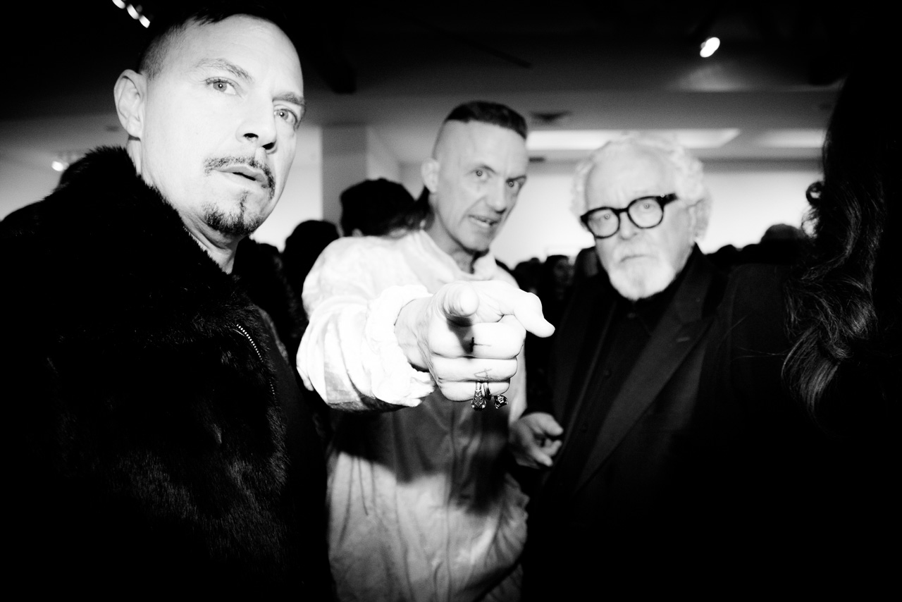 Die Antwoord and David Fahey at the opening night of Ellen von Unwerth's photography exhibition at TASCHEN Gallery on February 24, 2017 in Los Angeles, California.