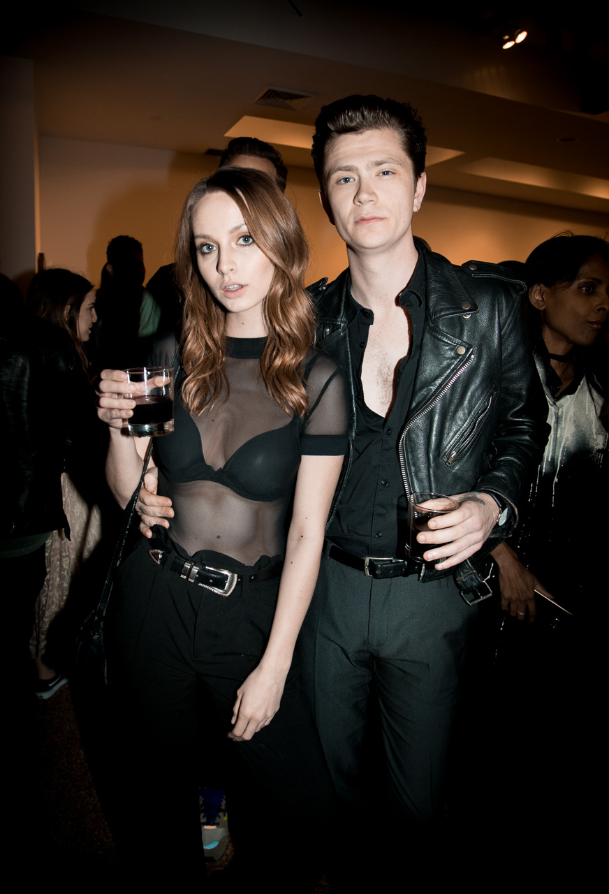 Model Bailee MyKell and boyfriend at the opening night of Ellen von Unwerth's photography exhibition at TASCHEN Gallery on February 24, 2017 in Los Angeles, California.