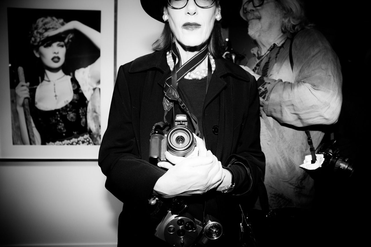 Photographer attends the opening night of Ellen von Unwerth's photography exhibition at TASCHEN Gallery on February 24, 2017 in Los Angeles, California.