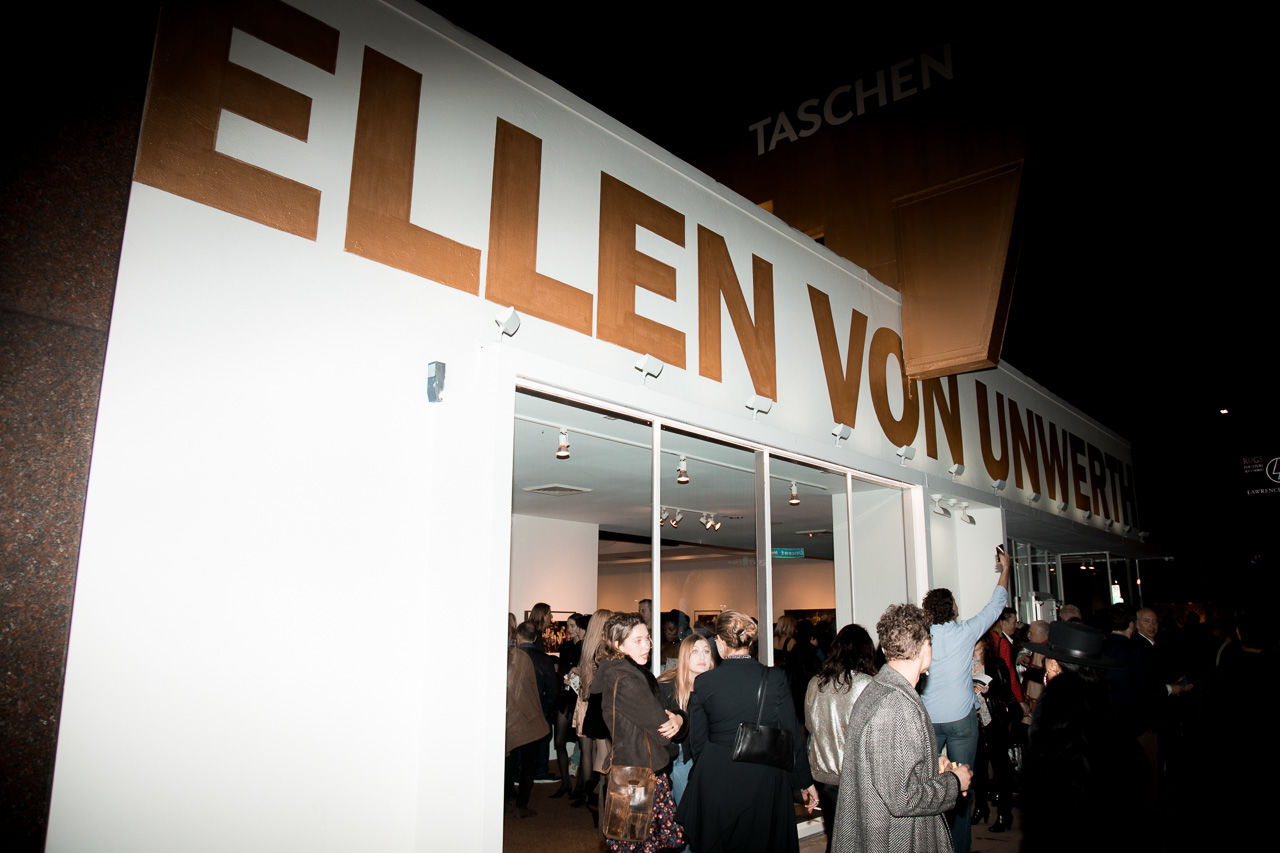 Crowd in front of the gallery at the opening night of Ellen von Unwerth's photography exhibition at TASCHEN Gallery on February 24, 2017 in Los Angeles, California.