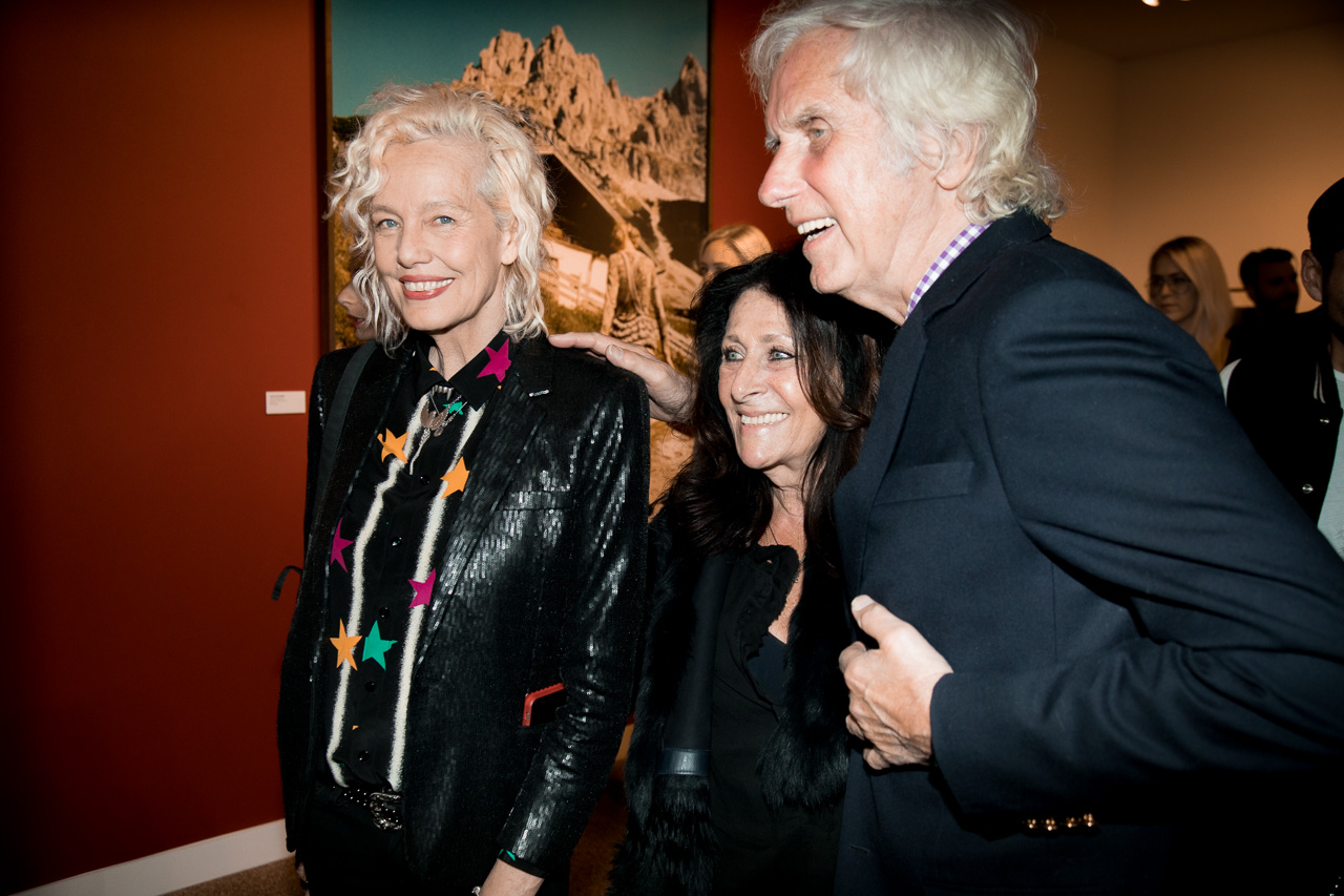 Photographer Ellen von Unwerth, Francoise Kirkland and photographer Douglas Kirkland at the opening night of Ellen von Unwerth's photography exhibition at TASCHEN Gallery on February 24, 2017 in Los Angeles, California.