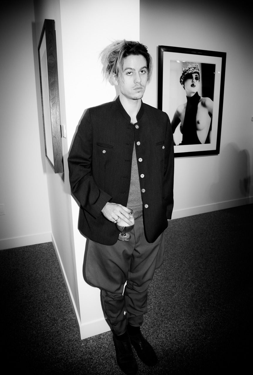 Artist Connor Tingley attending the opening night of Ellen von Unwerth's photography exhibition at TASCHEN Gallery on February 24, 2017 in Los Angeles, California.