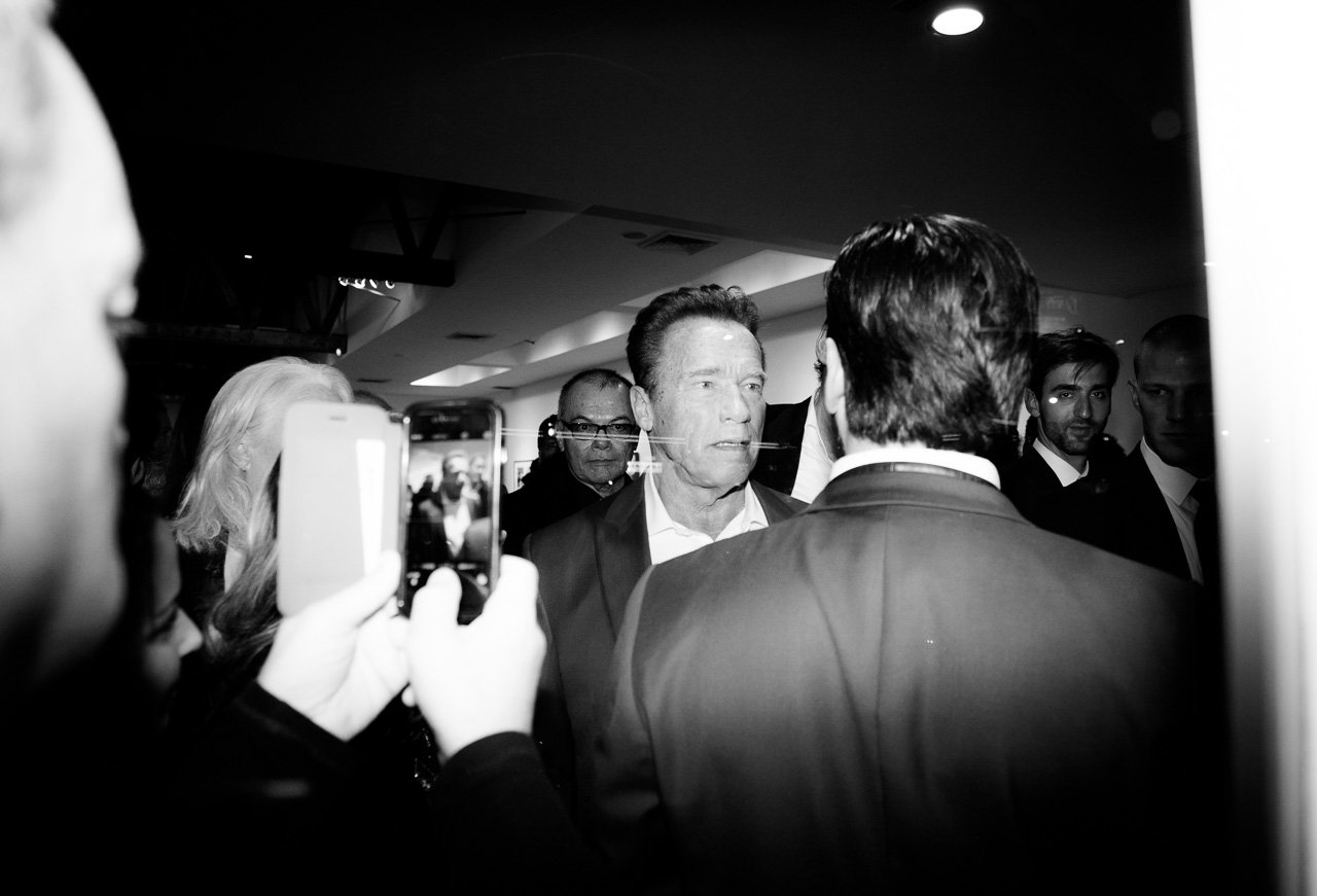 Arnold Schwarzenegger attends the opening night of Ellen von Unwerth's photography exhibition at TASCHEN Gallery on February 24, 2017 in Los Angeles, California.