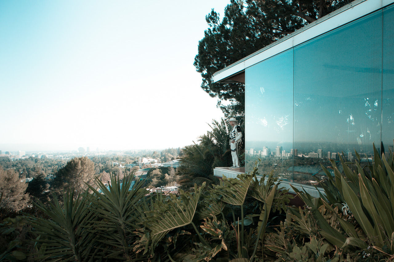 James F. Goldstein - American millionaire, Style Icon and NBA super fan - photographed  for the September Issue of Schön! Magazine at the Sheats Goldstein Residence in Beverly Crest. The Sheats Goldstein Residence was designed and built between 1961 and 1963 by American architect John Lautner in Los Angeles, California.
