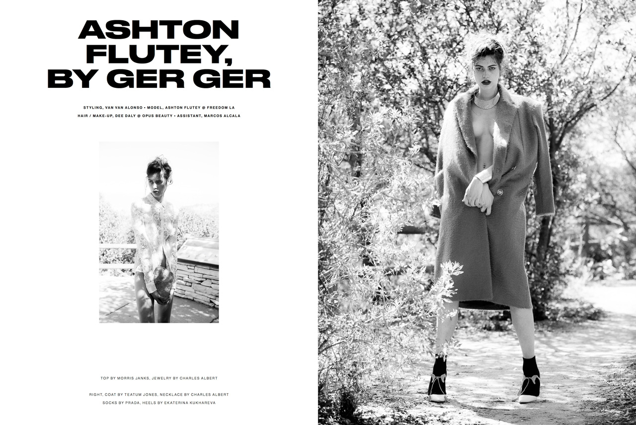 test Editorial for P Magazine: Ashton Flutey by Ger Ger