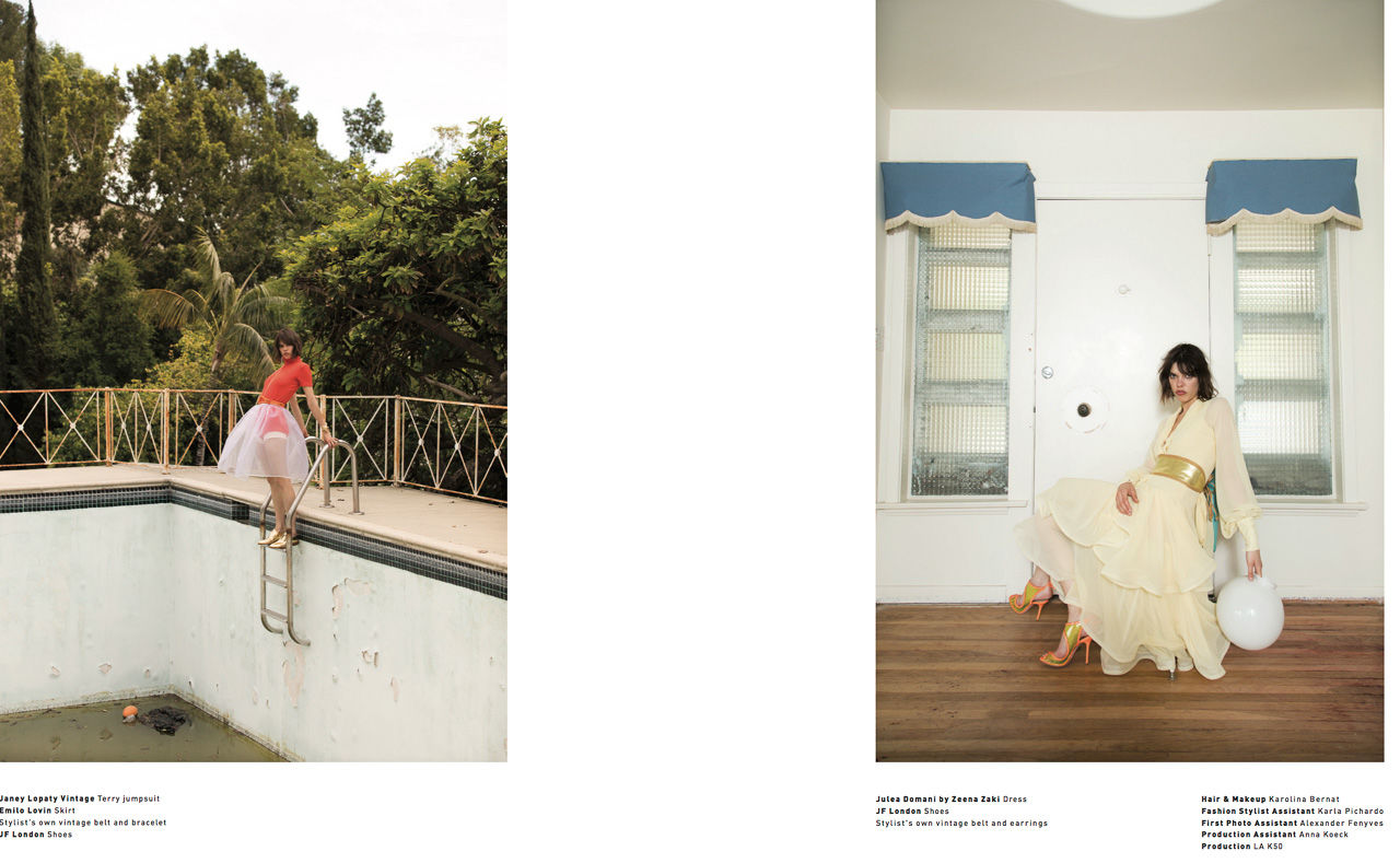 Editorial Spread for Malibu Magazine featuring Model/Actress/Director/Screenwriter Eva Dolezalova.