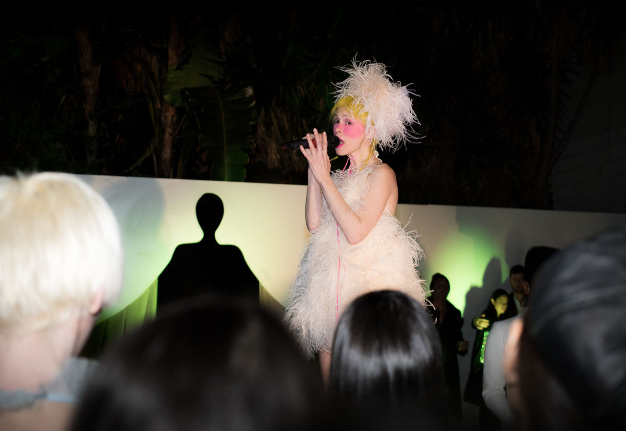 VISITORS Fashion Presentation by Aliona Kononova with a Performance by Petite Meller at the pop-up atelier on February 27, 2018 in Los Angeles.